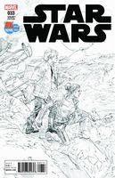 Star Wars #33 - Black & White Variant -  Previews Exclusive SDCC 2017 Limited Edition 5000